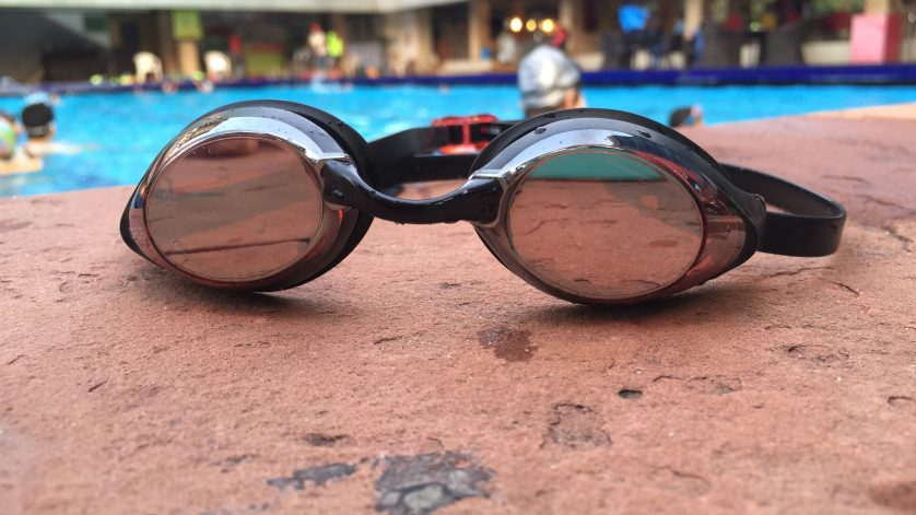 goggles by the pool